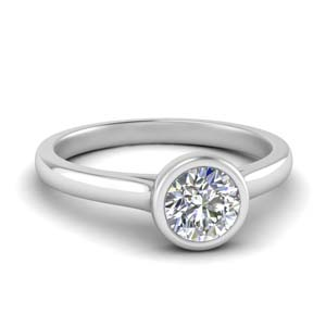 Semi Bezel Set Ring