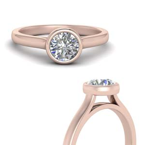 Bezel Set 1 Ct. Round Solitaire Ring