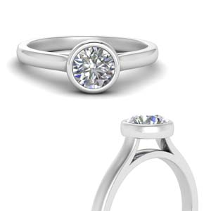 1 Carat Round Diamond Solitaire Ring
