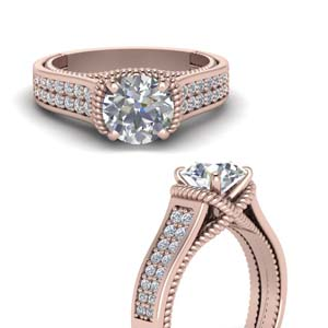 Pave 2 Row Diamond Ring