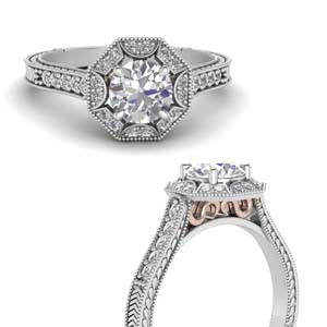 Vintage Double Tone Diamond Ring
