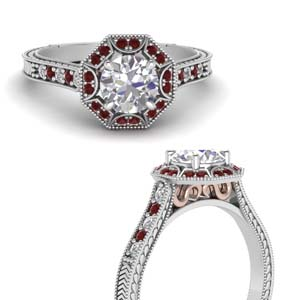 Antique Two Tone Ring With Ruby