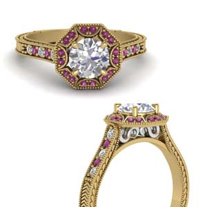 Antique Pink Sapphire Ring