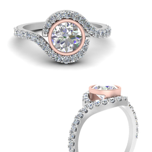 Bezel Set 2 Tone Ring For Her