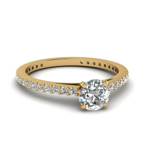 Simple Round Diamond Ring 1 Carat
