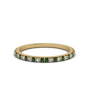 Petite Emerald Wedding Band