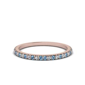 14K Rose Gold Thin Women Band