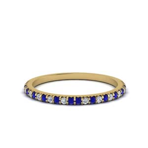 Yellow Gold Sapphire Wedding Band