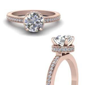 Pave Hidden Halo Diamond Ring