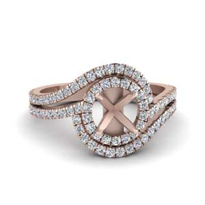 Semi Mount Rose Gold Ring