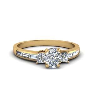 Cushion Cut Baguette Ring