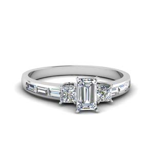 Three Stone Diamond Baguette Ring