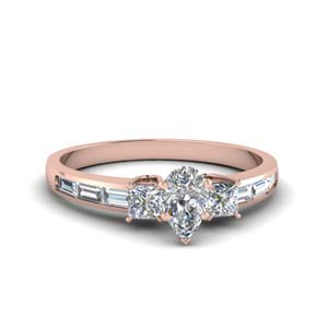 Baguette 3 Stone Lab Grown Diamond Ring