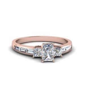 Baguette 1.50 Ct. Radiant Cut Ring
