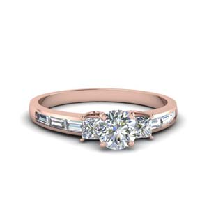 1.50 Ct. Diamond Baguette 3 Stone Ring