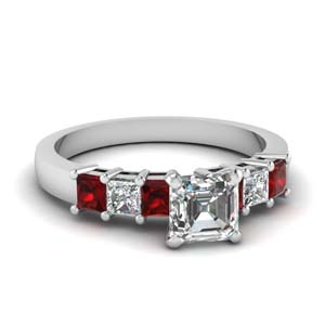Seven Stone Ruby Ring