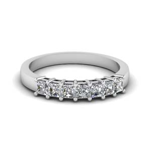 Seven Princess Cut Diamond Band