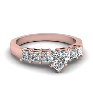 7 Stone Heart Diamond Ring