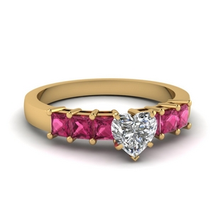 7 Stone Heart Shaped Ring