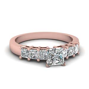 Princess Cut Basket Prong Ring