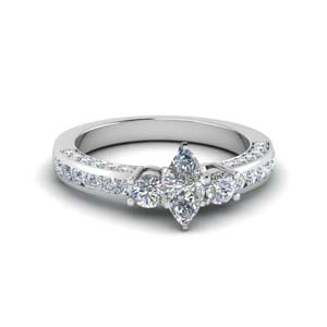 Channel Set 3 Diamond Accent Ring