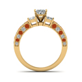 oval-shaped-diamond-engagement-ring-with-orange-sapphire-in-14K-yellow-gold-FDENS1096OVRGSAORANGLE3-NL-YG