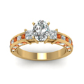 oval-shaped-diamond-engagement-ring-with-orange-sapphire-in-14K-yellow-gold-FDENS1096OVRGSAORANGLE5-NL-YG