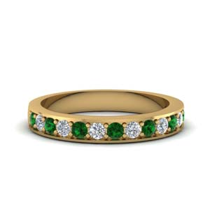 Simple Pave Emerald Band