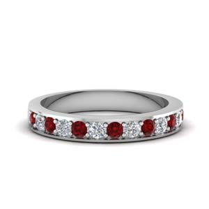Classic Pave Ruby Wedding Band