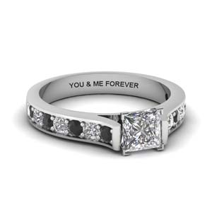 Personalized Black Diamond Ring