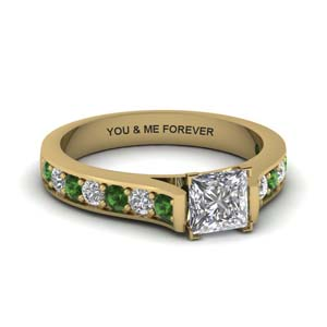 Personalized Pave Engagement Ring