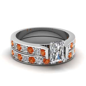 Cathedral Wedding Ring Set