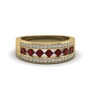 Ruby Wide Wedding Band