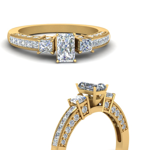 Radiant Cut Man Made Diamond Ring