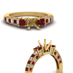 Channel Ruby Ring Setting