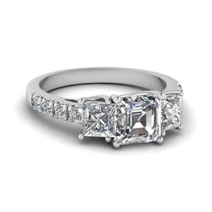 1 Ct. U Prong Diamond Ring