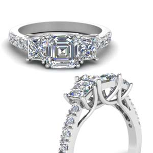 Asscher Cut Trellis Ring