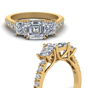 1 Ct. Diamond Trellis 3 Stone Ring