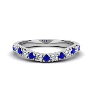 Sapphire Curved Band