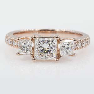 Princess Cut Diamond Ring 2 Ct.