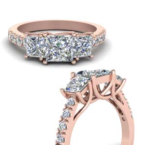 Rose Gold Princess Diamond Ring