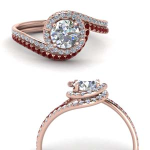 Halo Bridal Ring Set