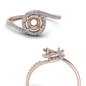 Twisted Diamond Ring Setting