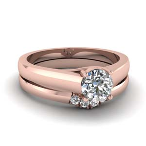 Solitaire Ring With Matching Band