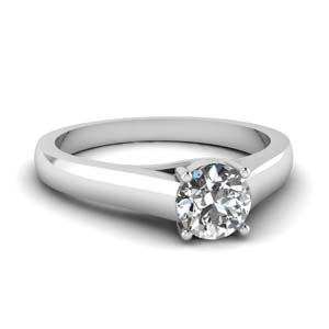 Platinum Basket Prong Ring