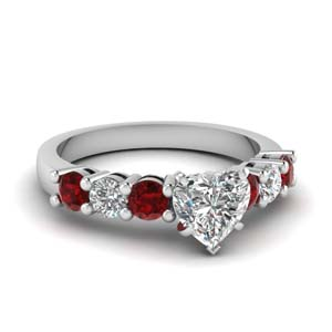 Accent Ruby Seven Stone Ring