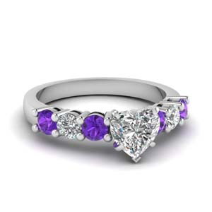 Heart Shaped Purple Topaz Ring