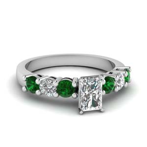 7 Stone Emerald Ring For Women