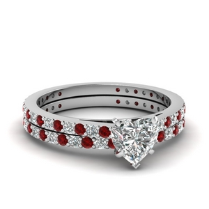 Delicate Ruby Wedding Set