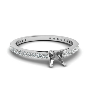 Semi Mount Delicate Diamond Ring